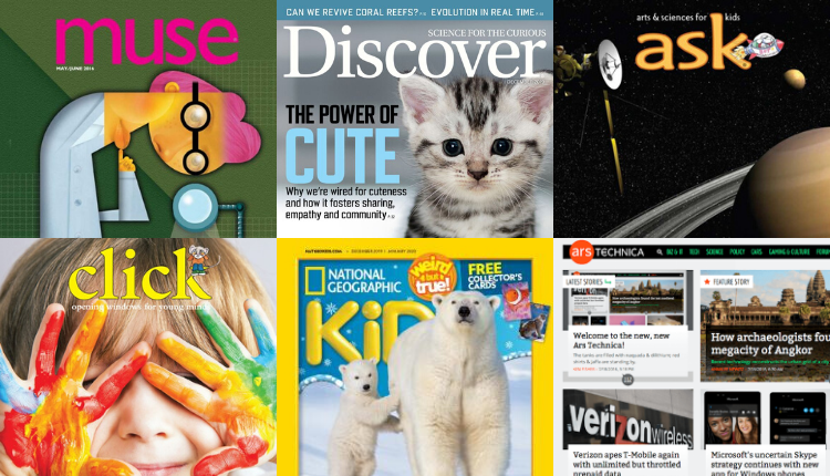 Science magazines for all ages