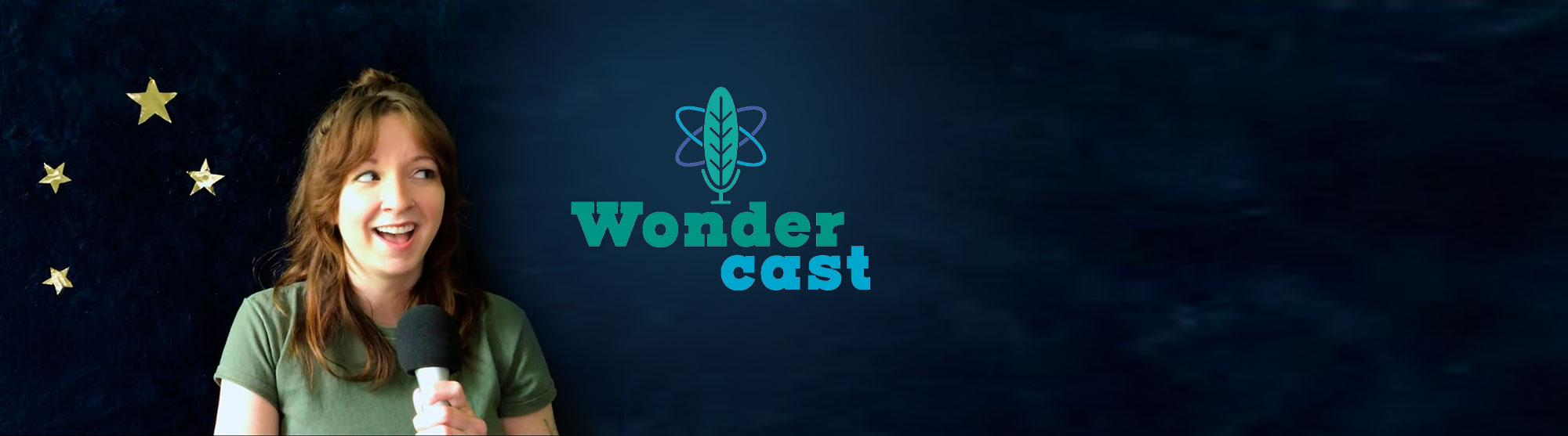 Kellie Vinal and the Wondercast logo