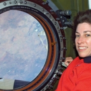 Ellen Ochoa at the International Space Station, 2002.