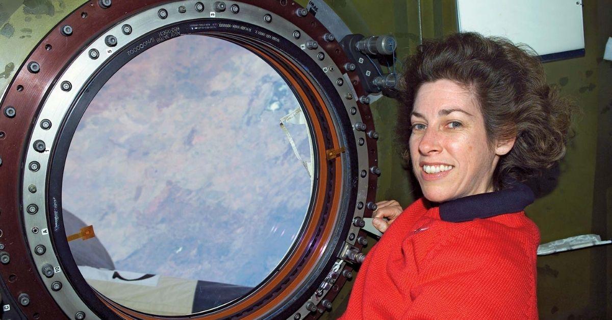 Ellen Ochoa at the International Space Station, 2002.