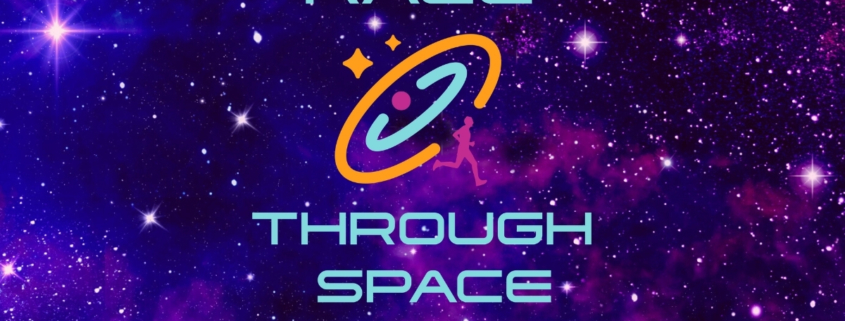 Race Through Space logo over starry background