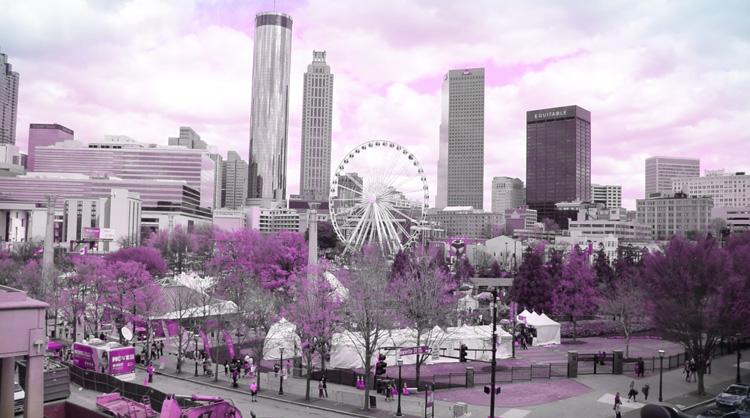 Atlanta in gray and purple colors