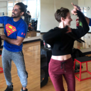 Learning about the science of social dancing with Ashwin Raju and Kristen Anne of Aatma Dance Studio.