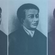 Colorful collage of historic figure, Benjamin Banneker