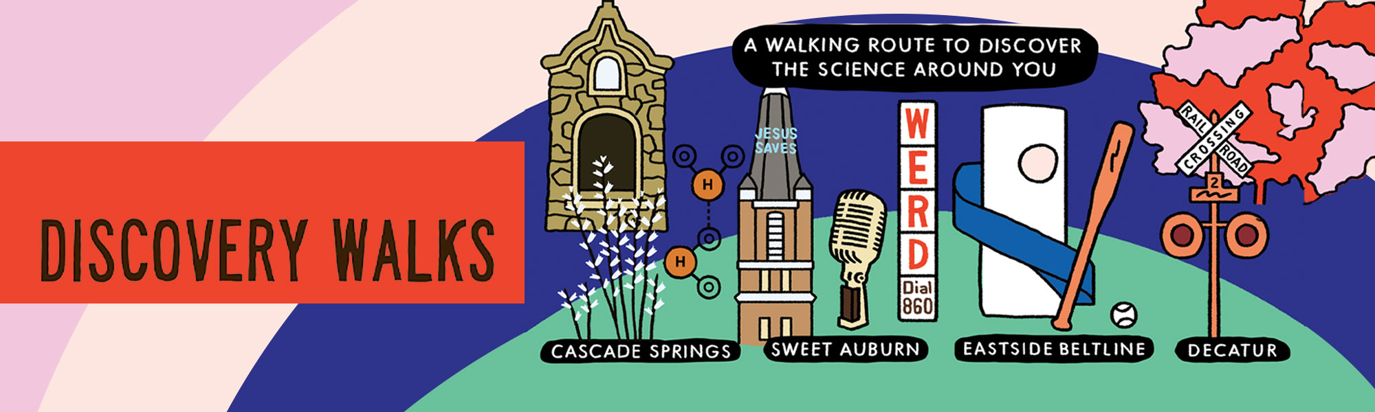 Discovery Walks: a walking route to discover the science around you.