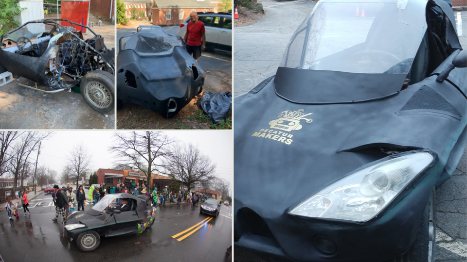 Images of the Stevemobile, created by Freant with the help of several members at Decatur Makers.