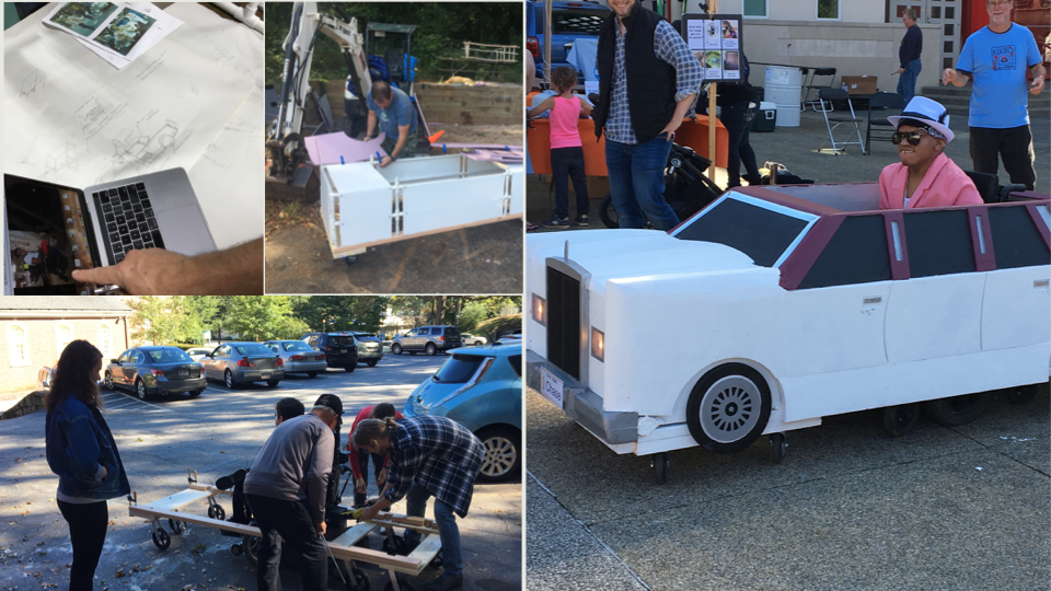 Decatur Makers fitted Chase as Bruno Mars in a 1985 Lincoln Town Car Stretched Limousine.