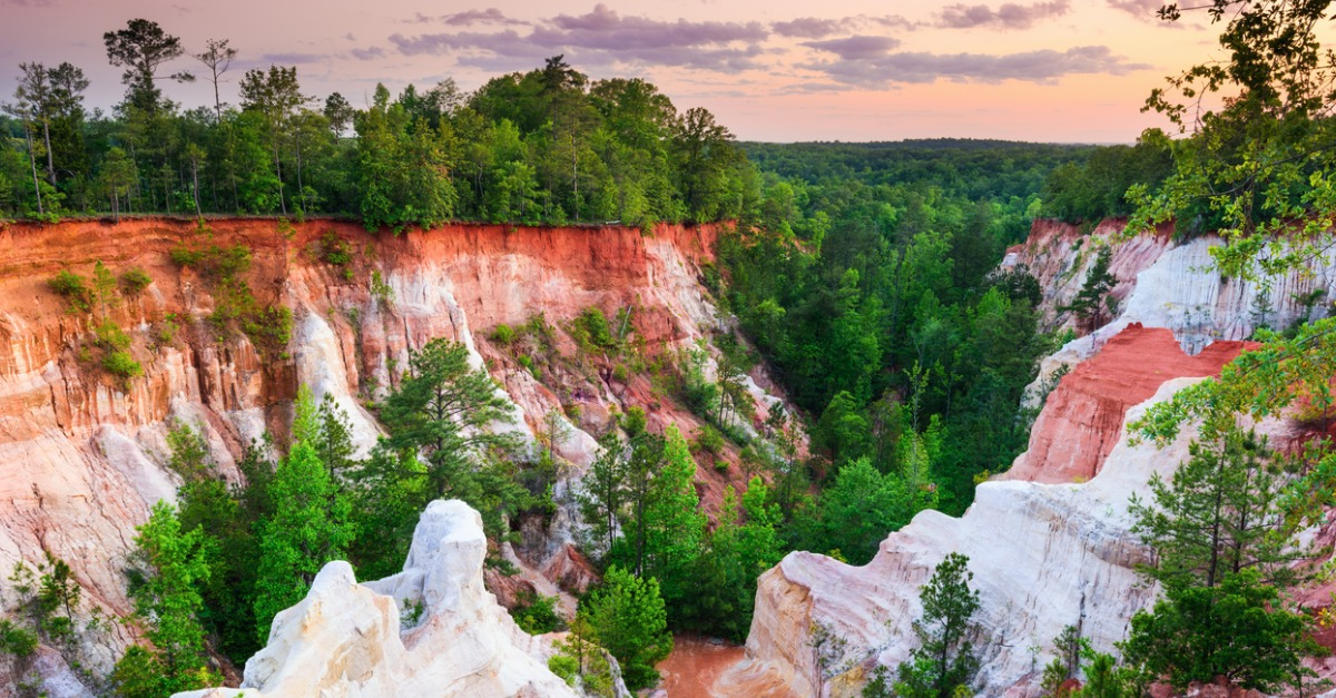 Landscape photo of the Providence Canyon in Lumpkin, GA