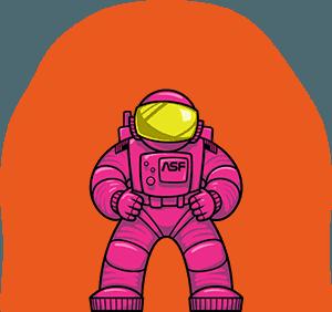 ALEX the astronaut mascot